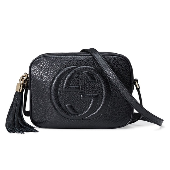 d43a9c3df16 Gucci Soho Disco Black Crossbody Shoulder Handbag